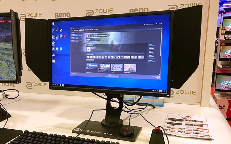 BenQ Zowie XL2546 240Hz 24.5in e-Sports Monitor with the Steam application on the screen