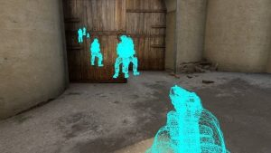 Example of a Wall Hack in CSGO