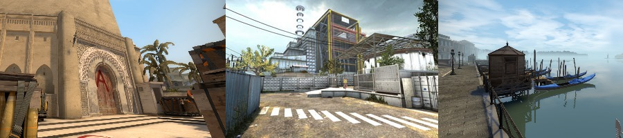 Mirage, Cache and Canals CSGO Maps