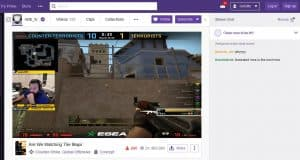 Example of a Twitch.tv CSGO stream featuring m0E_tv