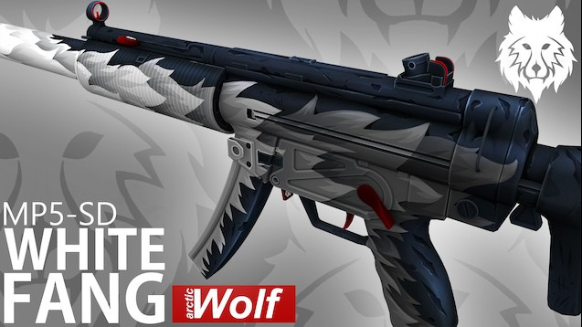 MP5-SD White Fang (Arctic Wolf)