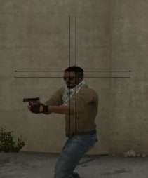 Square Crosshair on CSGO