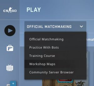 The Workshop Maps option in Counter Strike: Global Offensive Free