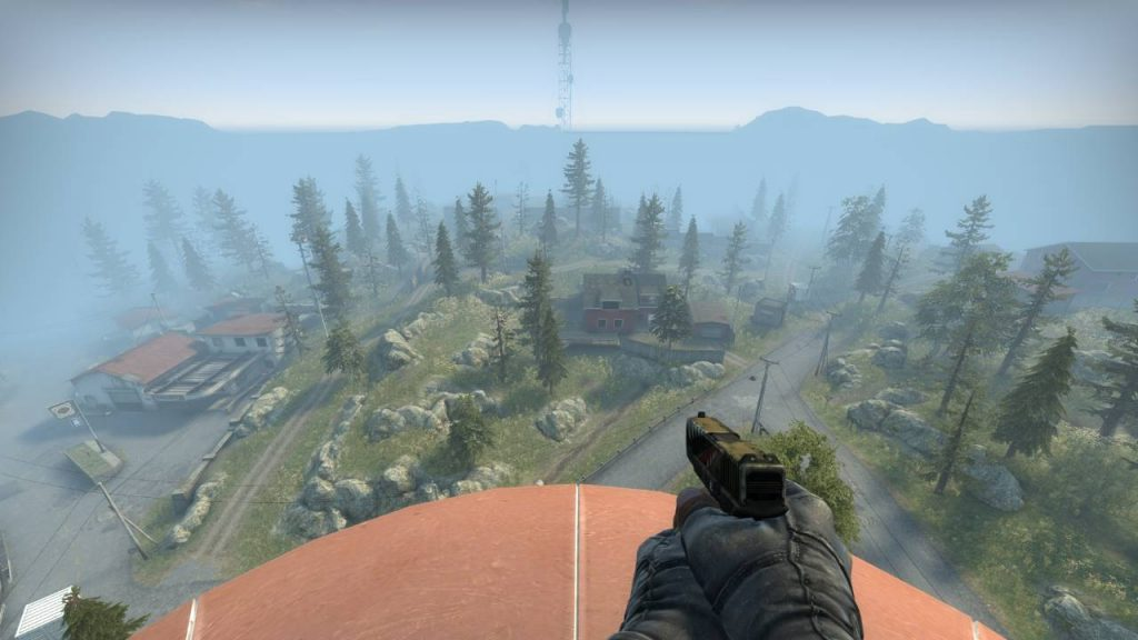 Blacksite Danger Zone Map Preview from on top of a water tower