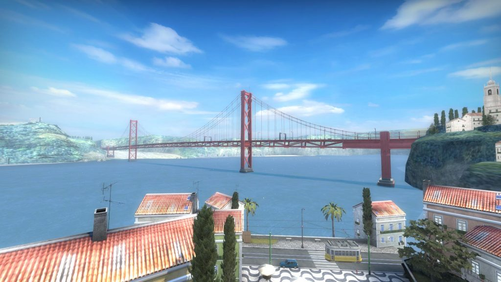 Ponte 25 de Abril bridge in Ruby