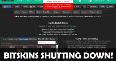 BitSkins shutting down