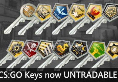 CS:GO Keys now untradable update