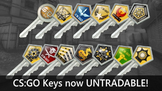 CS:GO Keys now untradable update