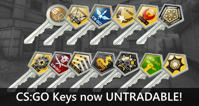 CSGO Keys now untradable