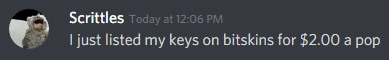 Trader liquidating their CSGO keys