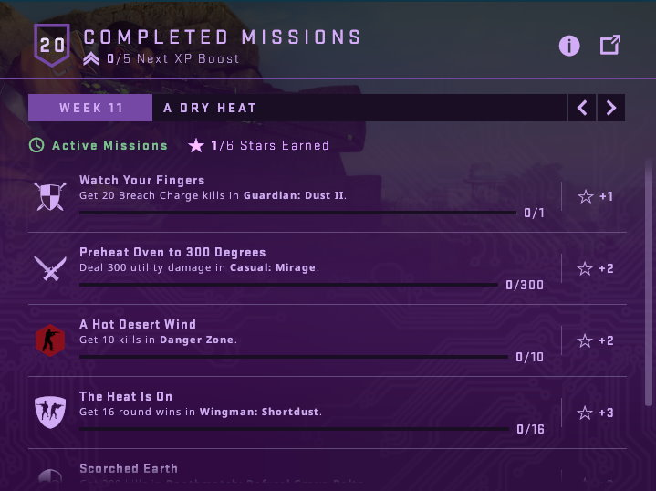 Week 11 Shattered Web Missions
