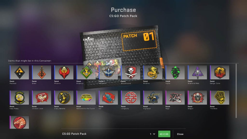 CSGO Patch Pack Items