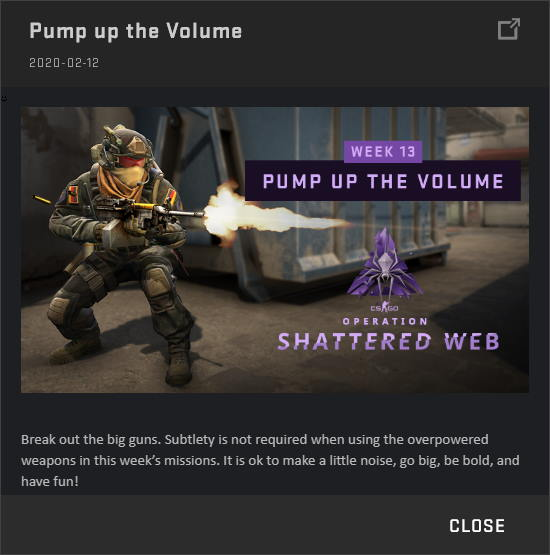 Pump up the Volume - Shattered Web Week 13