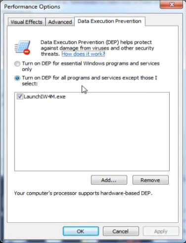 Data Execution Prevetion in Windows