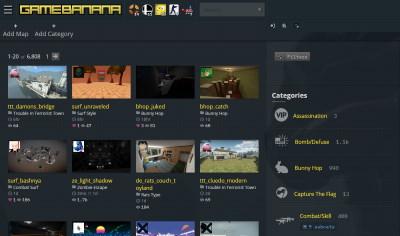 GameBanana CSGO Homepage