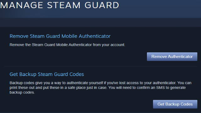 Steam Backup Codes
