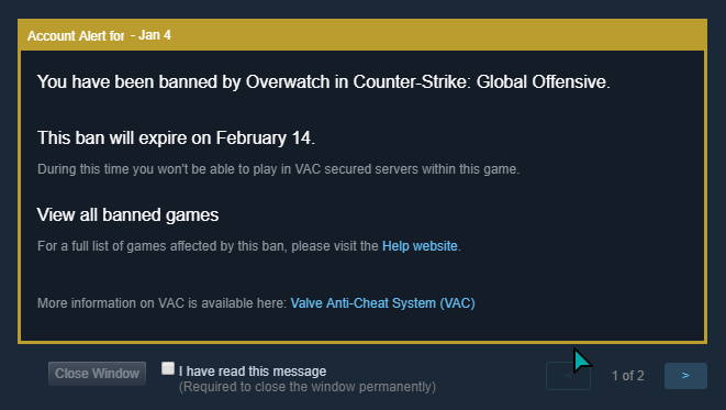 Griefing Ban in CSGO