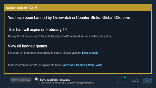 Griefing Report Leads to Ban in CSGO Featured Image