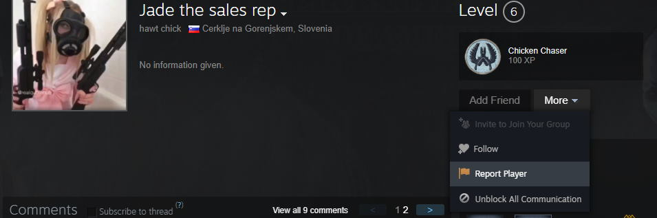 How to Report a Griefer on Steam