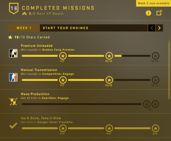 Week 1 Mission in Broken Fang CSGO