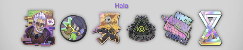 Holo Stickers Images in 2021 Community Capsule CSGO