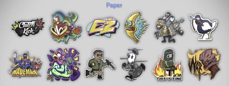 Paper Stickers Images in 2021 Community Capsule CSGO